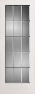 Metal Bars bevelled glass french door